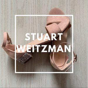 Stuart Weitzman Penelope Glitter Sandals